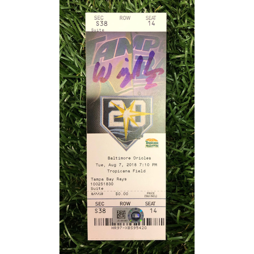 Photo of Autographed Game Ticket: Willy Adames Walk-Off Home Run - August 7, 2018 v CLE