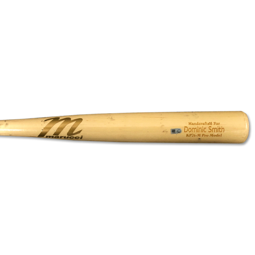 Photo of Dominic Smith #22 - Team Issued Full Bat - Beige Marucci Model - 2019 Season