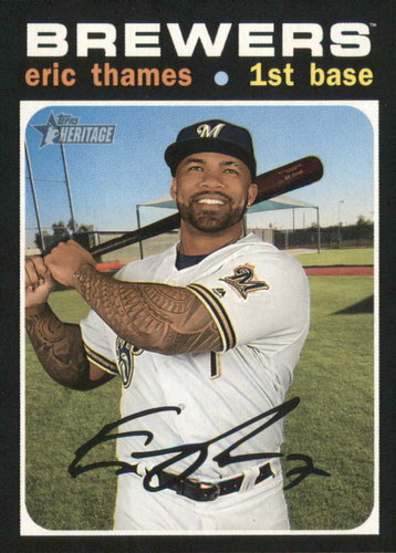Photo of 2020 Topps Heritage #397 Eric Thames