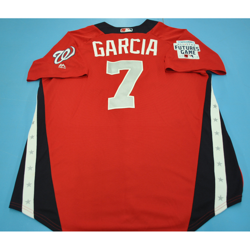 Photo of Game-Used Batting Practice Jersey - 2015 All-Star Futures Game - Luis Garcia - Size 44 - Only Worn During Batting Practice