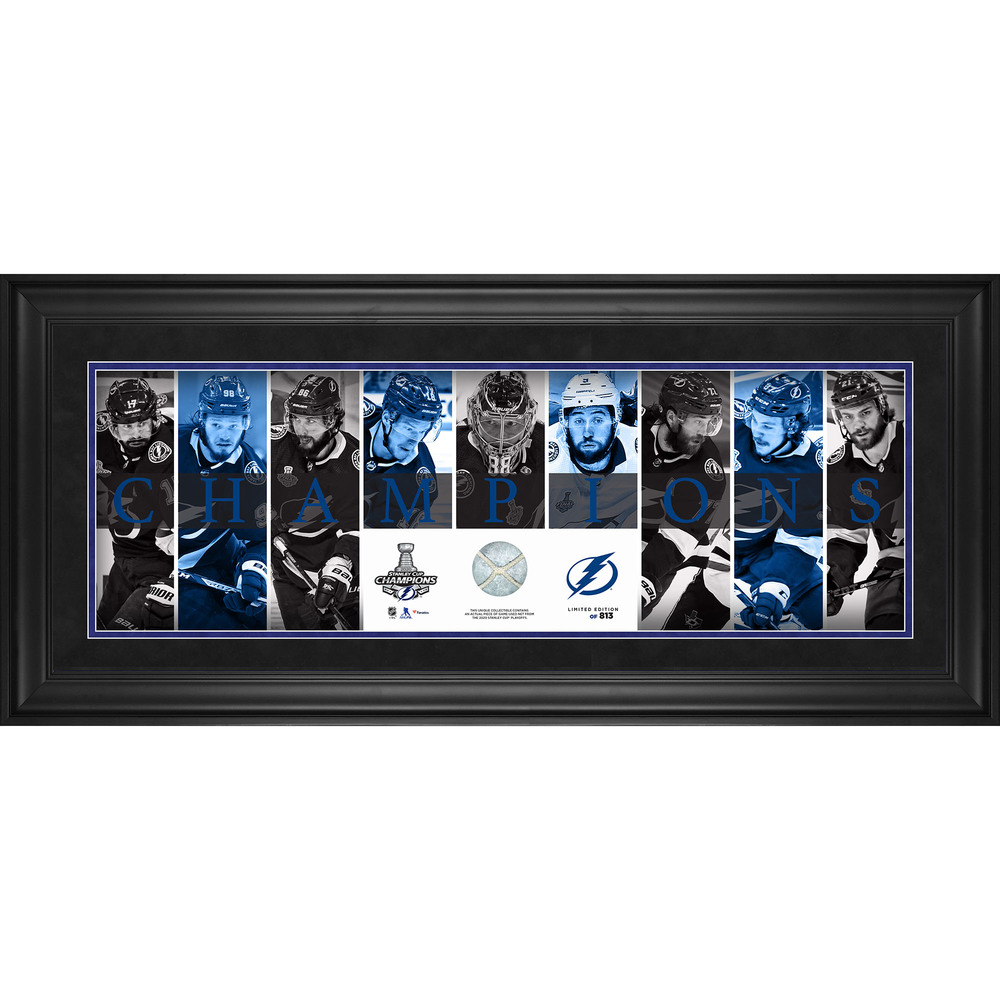 Tampa Bay Lightning 2020 Stanley Cup Champions Framed 10