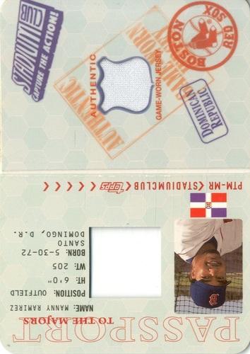 Photo of 2002 Stadium Club Passport to the Majors #PTMMR Manny Ramirez Jsy/1200