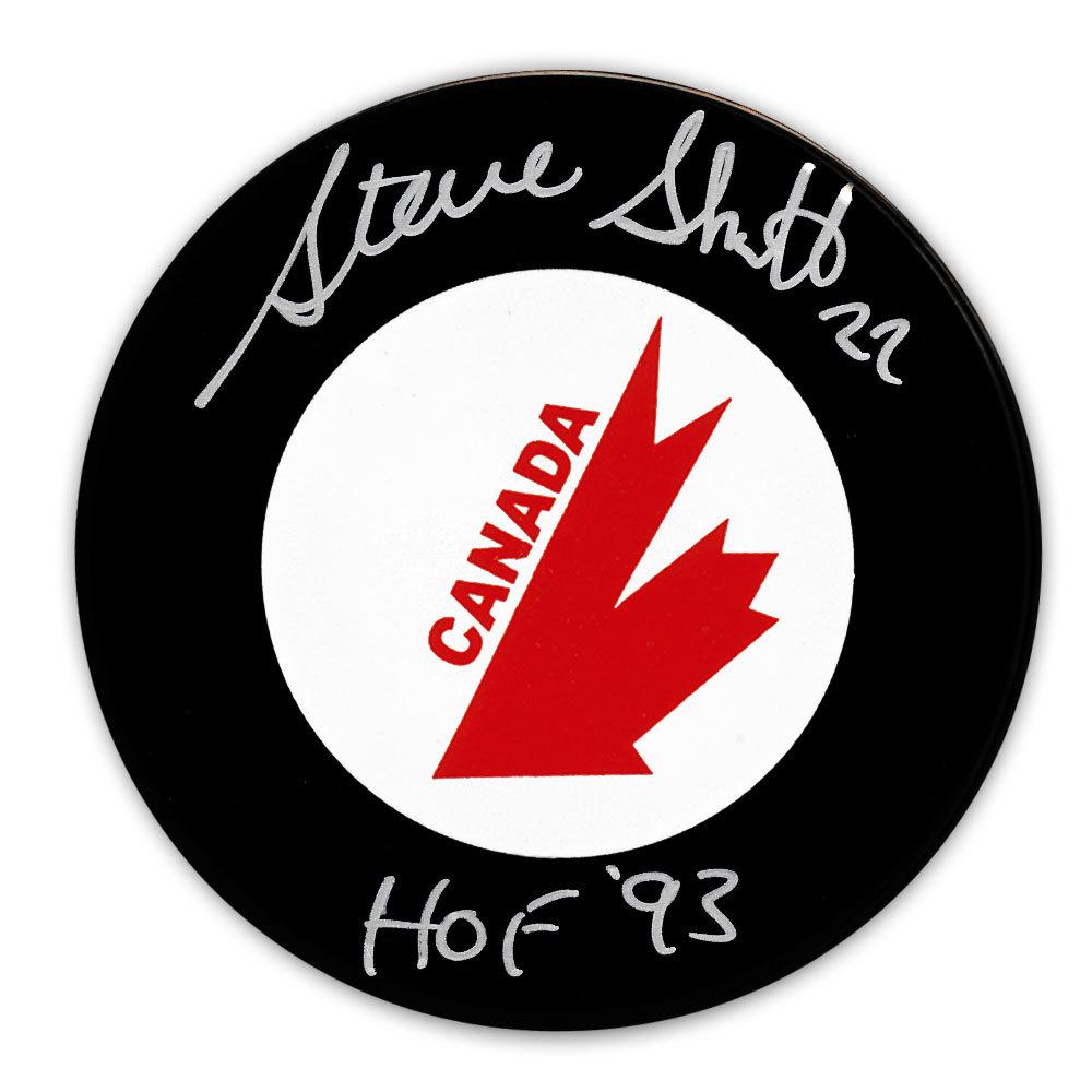 Steve Shutt Team Canada HOF Autographed Canada Cup Puck