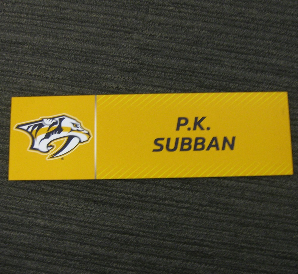 P.K. Subban 2017 Stanley Cup Final Media Name Plate - Nashville Predators
