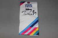 CRUCIAL CATCH - BEARS TARIK COHEN SIGNED AND GAME ISSUED CRUCIAL CATCH TOWEL (OCTOBER 15, 2017)