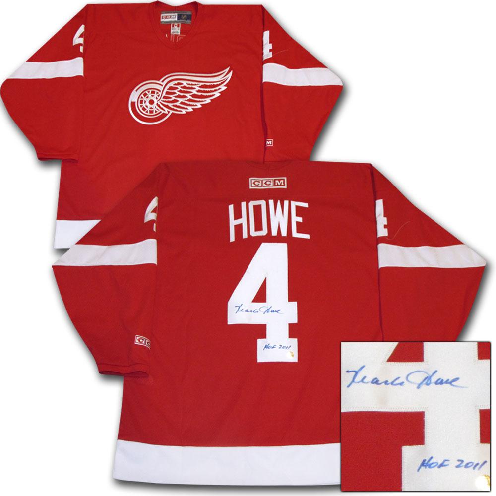 Mark Howe Autographed Detroit Red Wings Jersey w/HOF 2011 Inscription