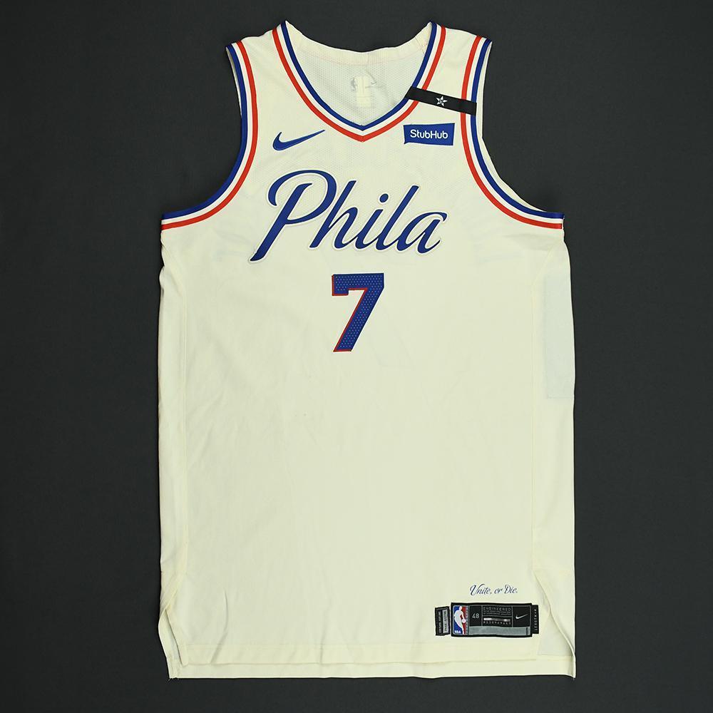 Timothe Luwawu-Cabarrot - Philadelphia 76ers - 2018 NBA Playoffs Game-Worn City Jersey - Dressed, Did Not Play