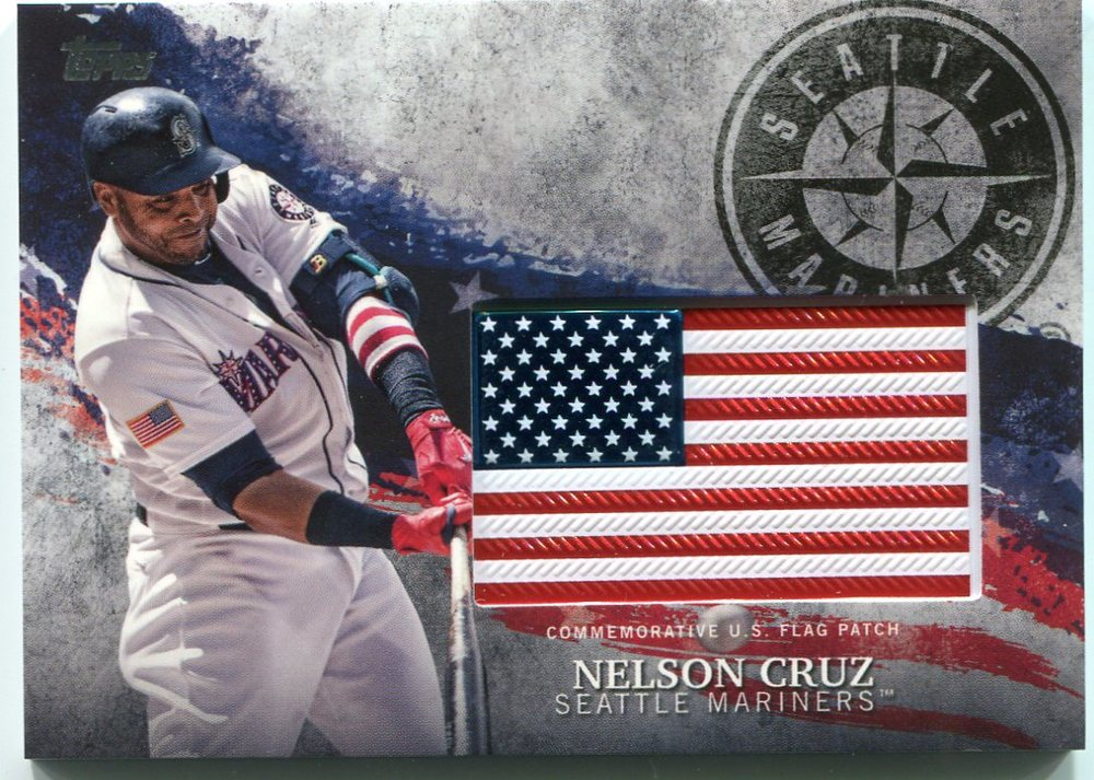 2018 Topps Independence Day U.S. Flag Relics #IDMLNC Nelson Cruz