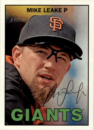 Photo of 2016 Topps Heritage #285 Mike Leake