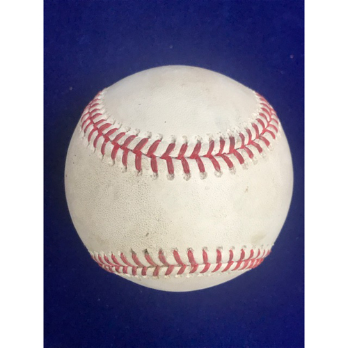 Photo of Game Used Baseball: Andrelton Simmons Single September 29th 2018