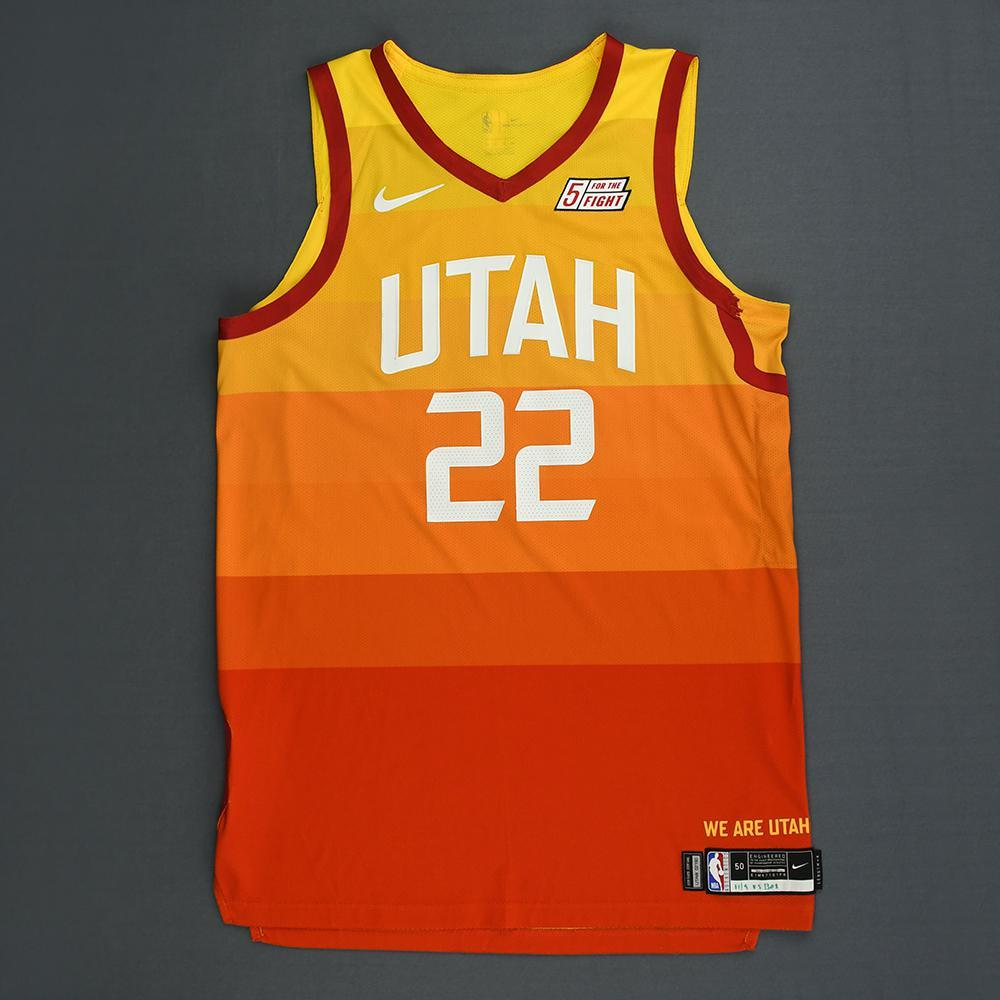 Thabo Sefolosha - Utah Jazz - Game-Worn City Edition Jersey - 2018-19 Season - Dressed, Did Not Play