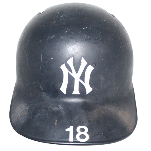 Photo of Didi Gregorius New York Yankees 2018 Game Used #18 Road Batting Helmet (10/5/2018)