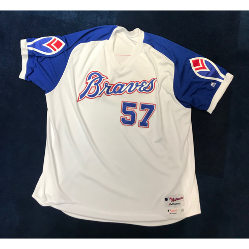 Photo of Sal Fasano (Team-Issued or Game-Used) 2019 Atlanta Braves Hank Aaron Weekend 1974 Throwback Jersey