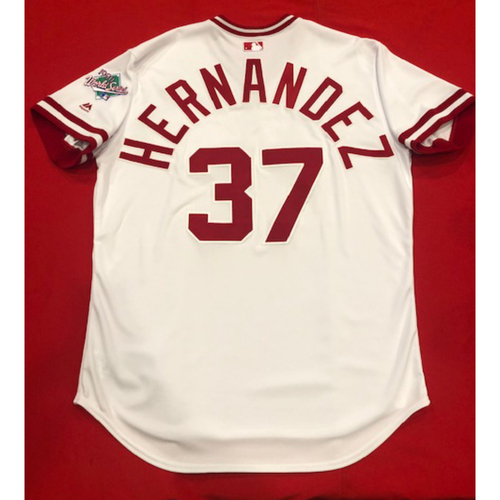 Photo of David Hernandez -- Team Issued 1990 Throwback Jersey -- Cardinals vs. Reds on Aug. 18, 2019 -- Jersey Size 50