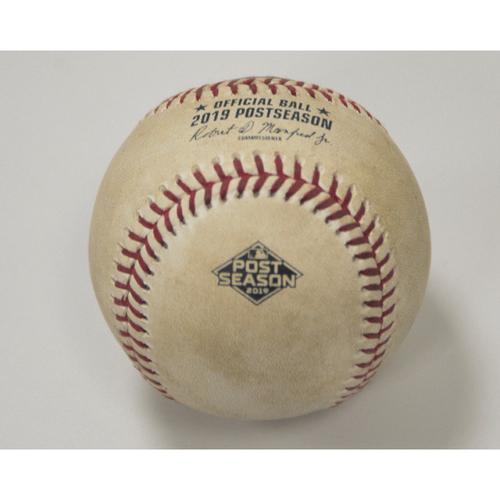 AL Wild Card Game - Game-Used Baseball: Pitcher: Jesus Luzardo, Batter: Avisail Garcia, Foul (Top 6) - 10/2/19 vs. TB