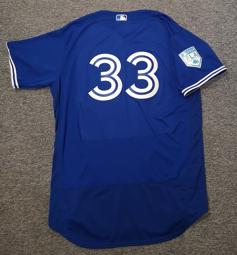Photo of Authenticated Team Issued 2019 Spring Training Jersey - #33 Jacob Waguespack. Size 50