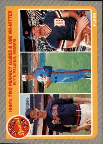 Photo of 1985 Fleer #643 Two Perfect Games/and One No-Hitter:/Mike Witt/David Palmer/Jack Morris