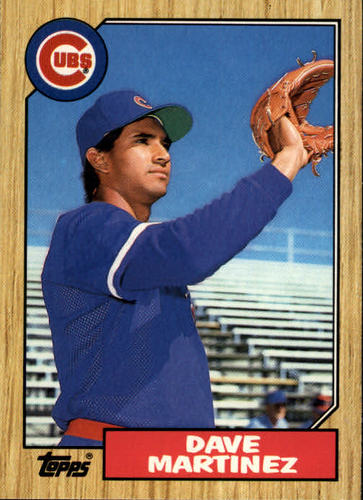 Photo of 1987 Topps Traded #73T Dave Martinez XRC