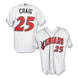 Image of #25 Will Craig Autographed Game Worn Home White Jersey