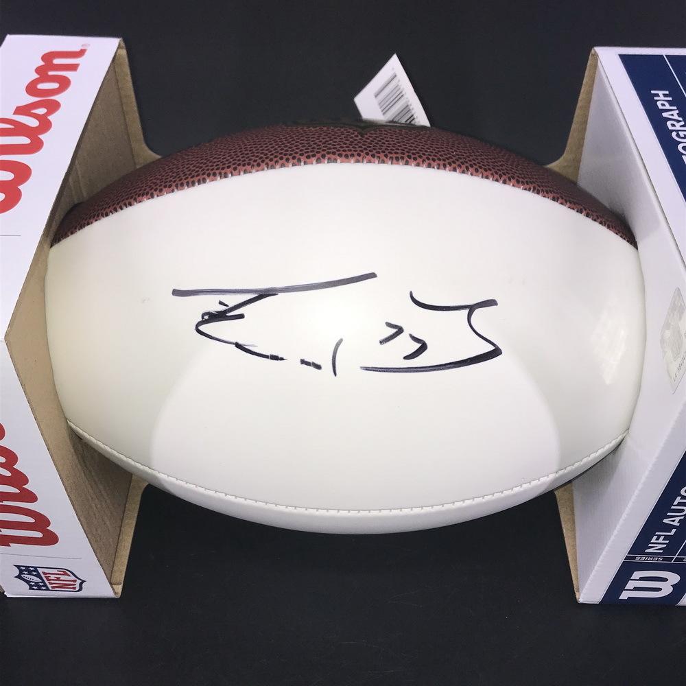 NFL - Titans Taylor Lewan signed panel ball