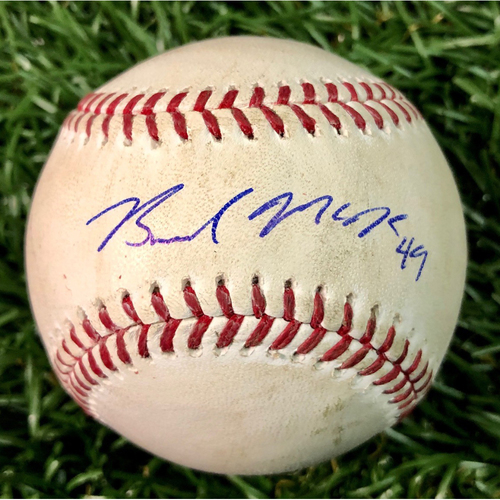 Photo of Rays Baseball Foundation: Game Used Autographed Baseball - Brendan McKay MLB Debut - June 29, 2019 v TEX