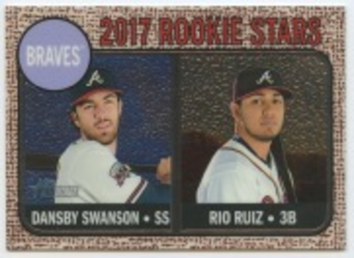 Photo of 2017 Topps Heritage Chrome #76 Dansby Swanson/Rio Ruiz