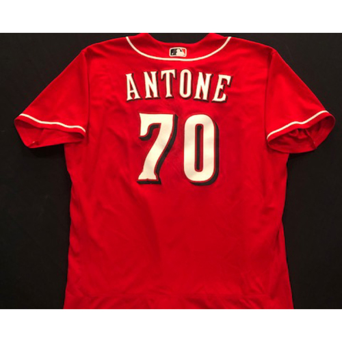Photo of Tejay Antone -- 2020 Spring Training Jersey -- Team-Issued -- Size 48