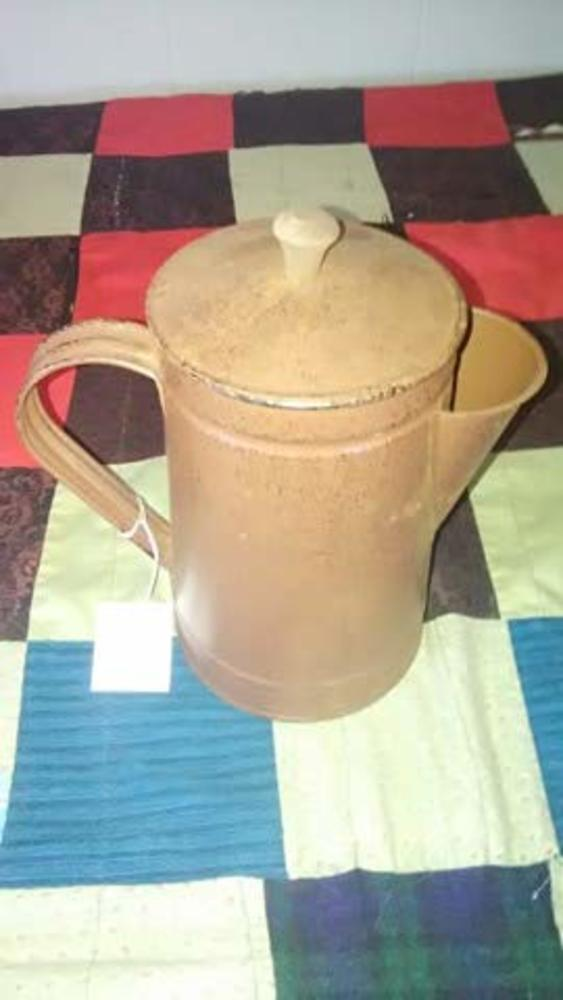 Photo of Coffee Pot Rusty Tin Metal Country Rustic Primitive