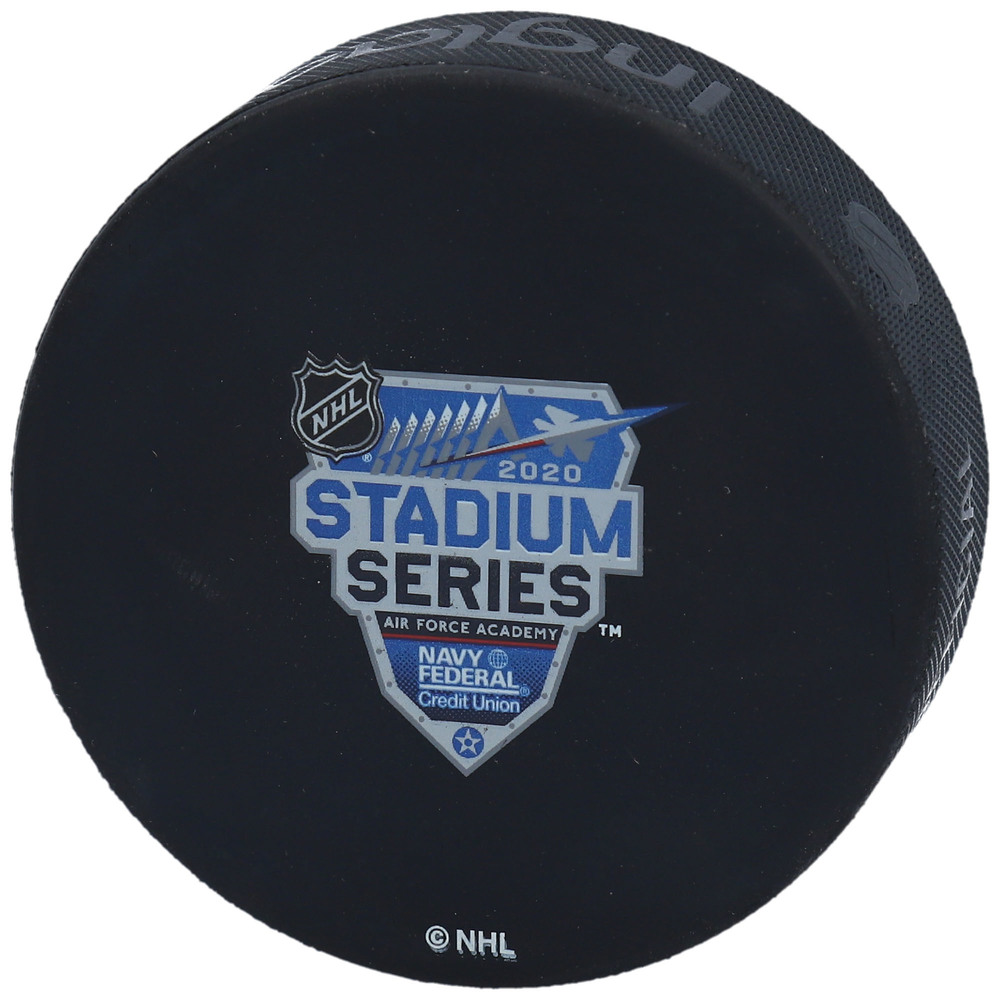 Colorado Avalanche vs. Los Angeles Kings Practice-Used Puck from the 2020 NHL Stadium Series on February 15, 2020 - Used During Pregame Warm-Ups