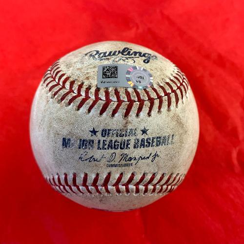 Photo of Game-Used Baseball - Kevin Pillar Single, Dominic Smith Single vs. Madison Bumgarner - Mets @ D-backs 6/2/2021