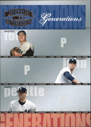 Photo of 2004 Throwback Threads Generations #18 Ford/John/Pettitte