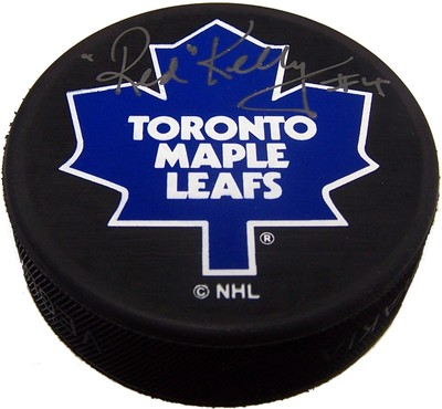 Red Kelly Autographed Toronto Maple Leafs Puck