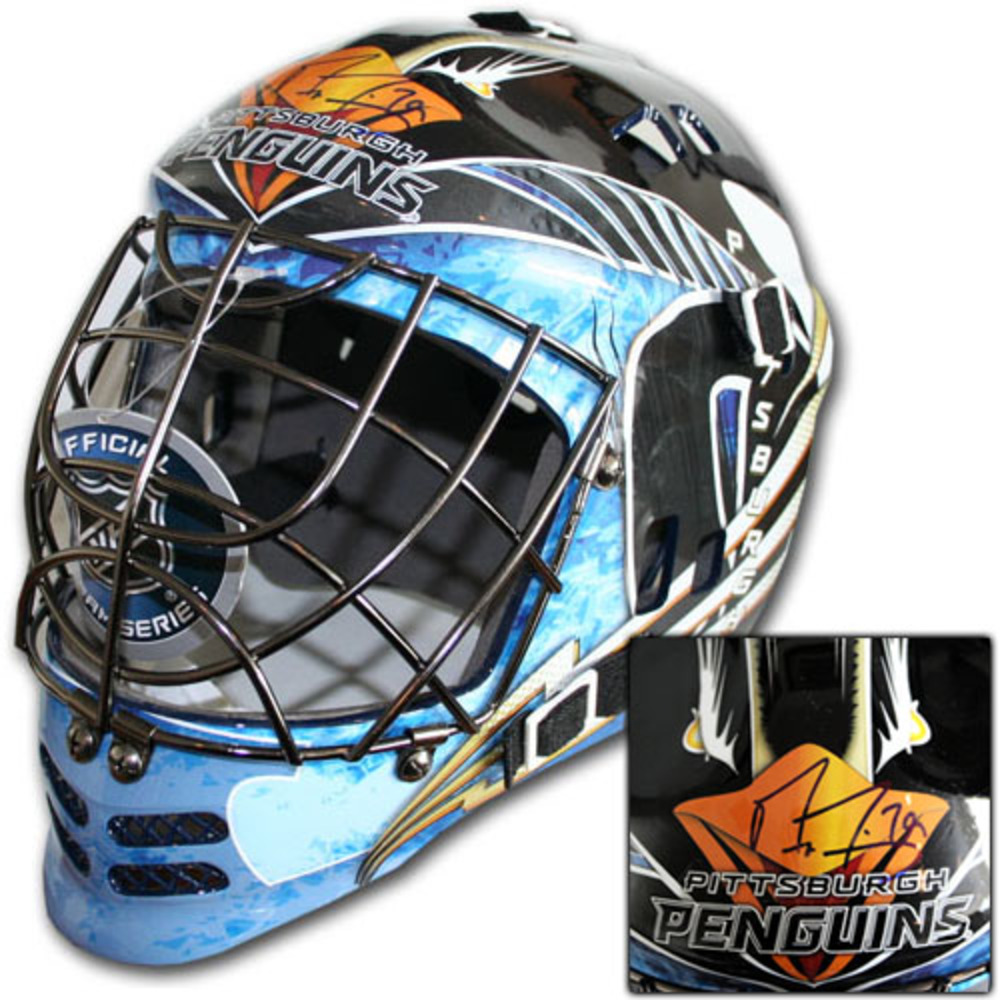 Marc-Andre Fleury Autographed Pittsburgh Penguins Replica Goalie Mask