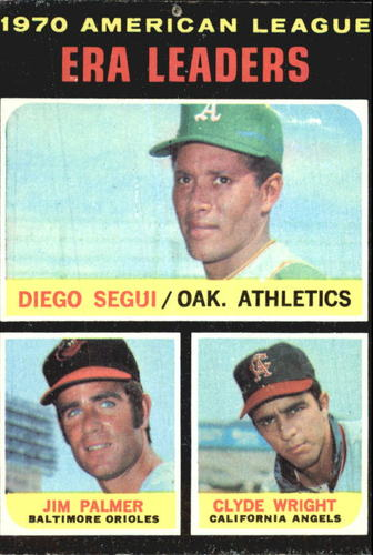 Photo of 1971 Topps #67 AL ERA Leaders/Diego Segui/Jim Palmer/Clyde Wright