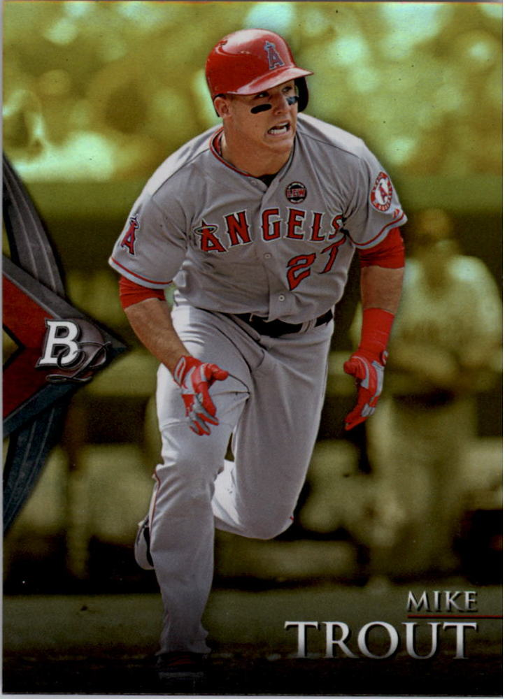 2014 Bowman Platinum Gold #2 Mike Trout