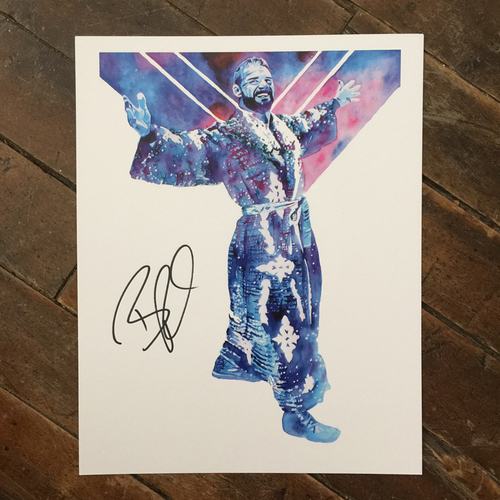 Photo of Bobby Roode SIGNED 11 x 14 Rob Schamberger Print