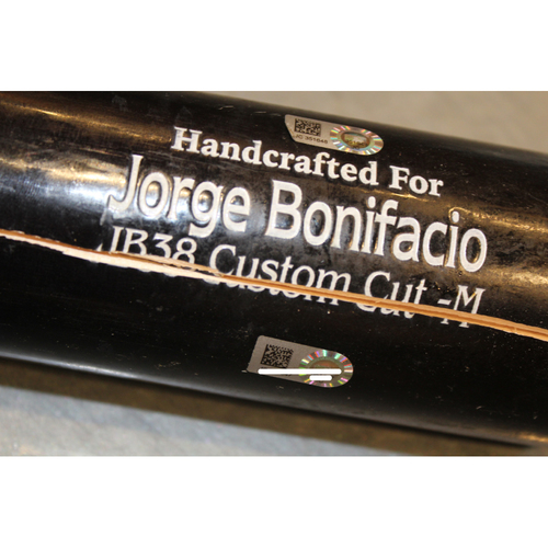 Photo of Game-Used Broken Bat: Jorge Bonifacio (KC at CLE - 8/25/17)