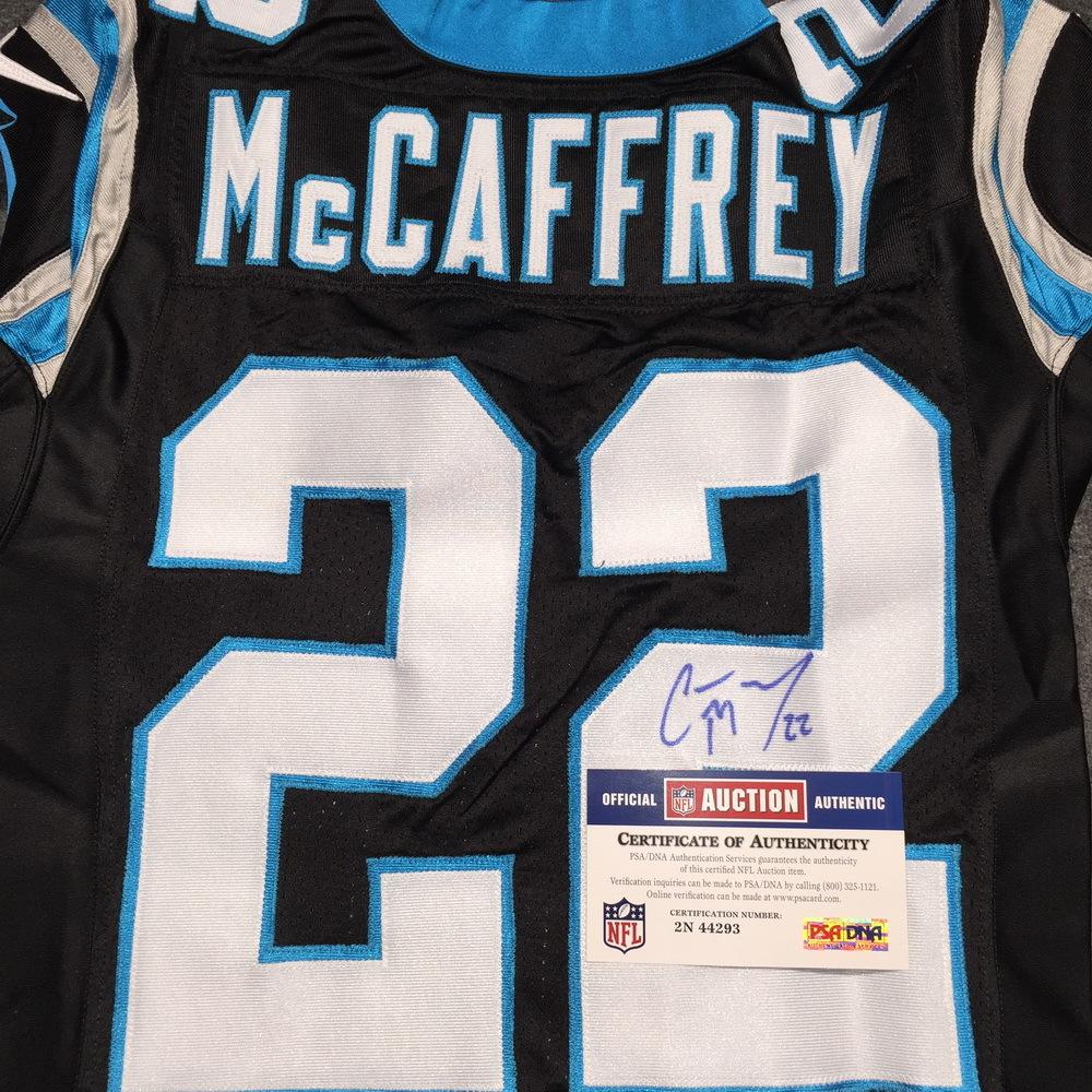sports shoes 61739 8e1da NFL Auction | Panthers - Christian McCaffrey signed Panthers ...