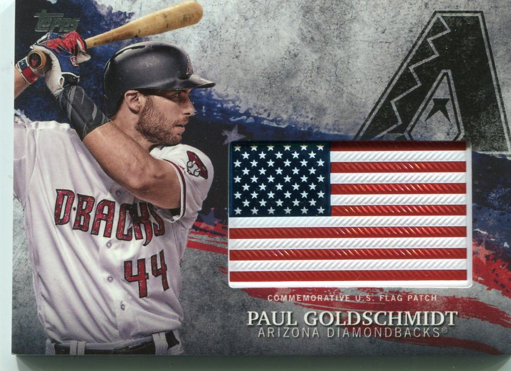 2018 Topps Independence Day U.S. Flag Relics #IDMLPG Paul Goldschmidt
