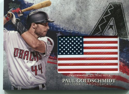 Photo of 2018 Topps Independence Day U.S. Flag Relics #IDMLPG Paul Goldschmidt