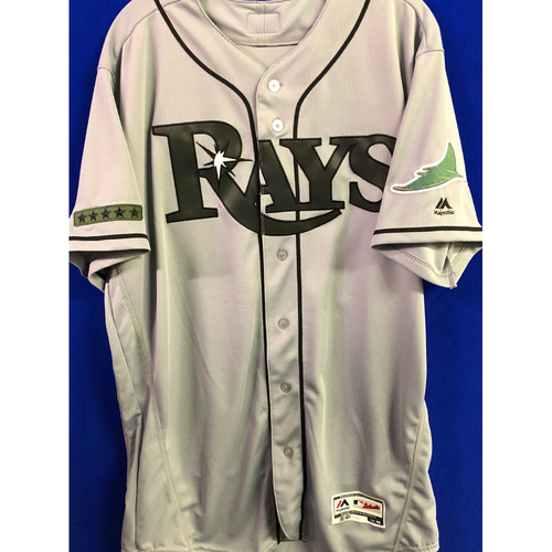 Photo of 2018 Memorial Day Game Used Jersey and Cap Package: Chris Archer - May 28, 2018 at OAK - Starting Pitcher (6 IP, 0 ER, 7 K)