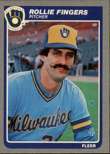 Photo of 1985 Fleer #581 Rollie Fingers-- Hall of Fame Class of 1992