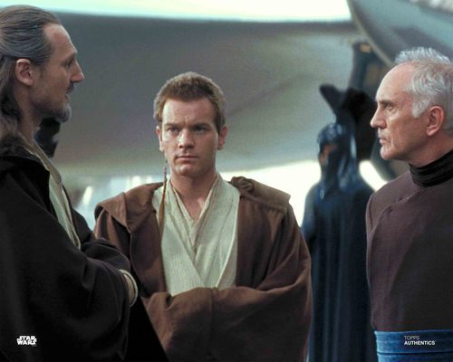 Qui-Gon Jinn, Obi-Wan Kenobi and Chancellor Valorum