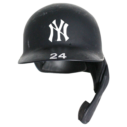 Photo of Gary Sanchez New York Yankees 2018 Game Used #24 Road Batting Helmet (9/24/2018)