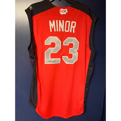 Photo of Mike Minor 2019 Major League Baseball Workout Day Autographed Jersey