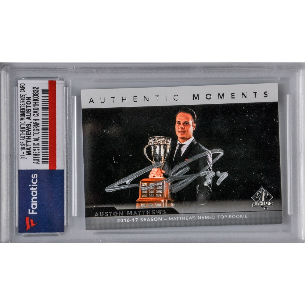Auston Matthews Toronto Maple Leafs Autographed 2017-18 SP Authentic Authentic Moments #105 Card