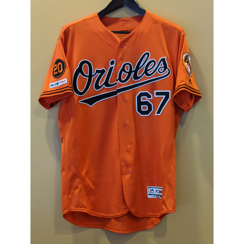 Photo of John Means - Orange Alternate Jersey: Game-Used