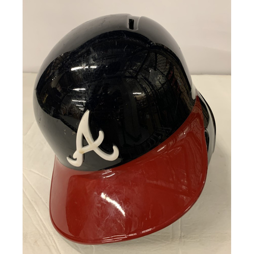 Photo of Adam Duvall Game Used Postseason Helmet - Worn 10/4/19