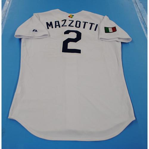 Photo of 2006 Inaugural World Baseball Classic: Mavro Mazzoti Game-worn Team Italy Home Jersey