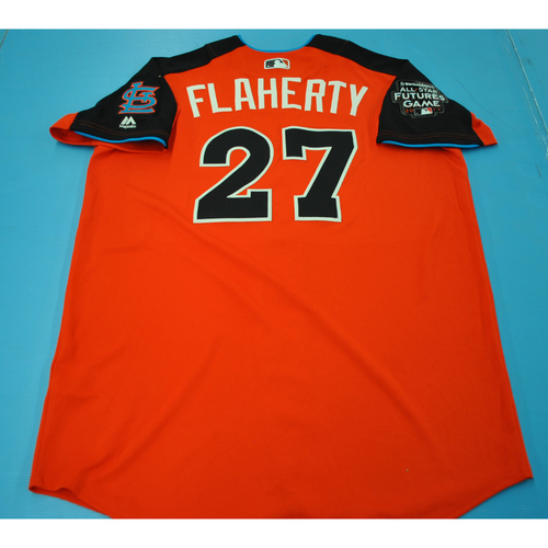 Photo of Game-Used Batting Practice Jersey - 2015 All-Star Futures Game - Jack Flaherty - Size 46 - Only Worn During Batting Practice